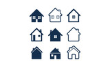 Simple House Icon Set - 83055224