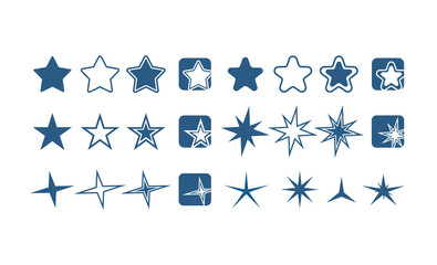 Twinkle Star Icon Set