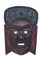 Wooden mask isolated on white background