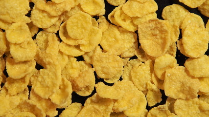Sweet Corn Flakes is circling on the black background