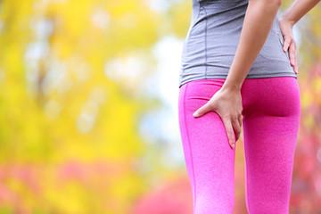 Sprain hamstring or cramps - Running sports injury