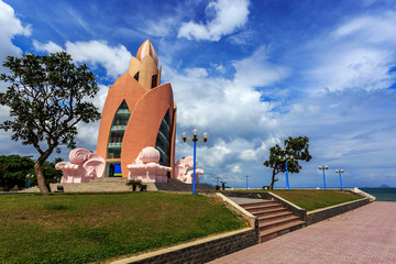 Tower Lotus in Nha Trang Vietnam. Horisontal