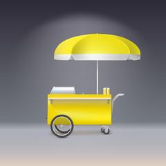 Yellow cart for sale lemonade.
