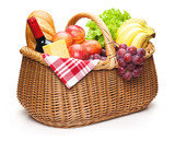 Fototapety Picnic basket with food.