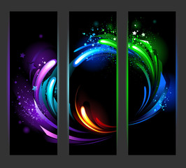 Vertical banner with abstract background