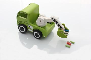 Camion vert
