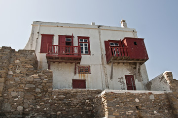 Deserted traditional house in Mykonos