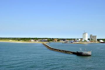 Hafenansicht Dänemark Grenze