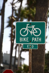 カリフォルニア サンタモニカ ベニスビーチ 自転車専用レーン