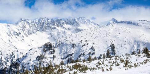 Winter wonderland in mountain