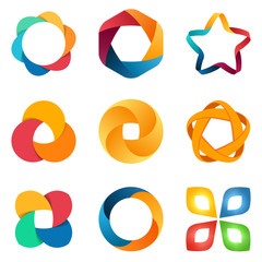 Logo templates set.