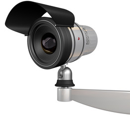cctv security camera isolated on white