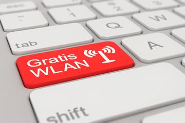 keyboard - Gratis WLAN - red