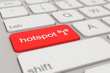 keyboard - hotspot - red