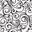 Seamless black and white pattern. Vector illustration.