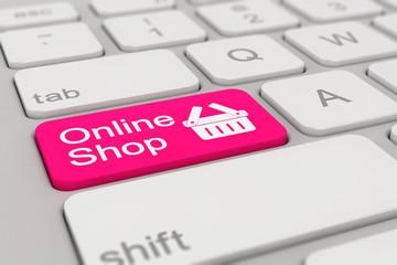 keyboard - online shop - magenta