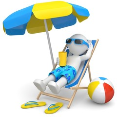 Urlaub unterm Strandschirm