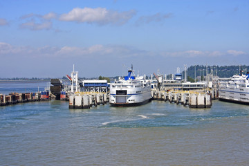 Ferries at Tsawwassen, Canada