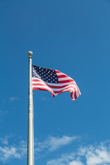 American Flag Up Flagpole