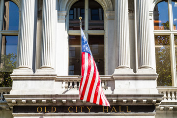 Old City Hall with American Flag