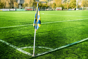 Football field, field angle