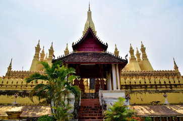 temple atmosphere   The estimable in Vientiane, Laos