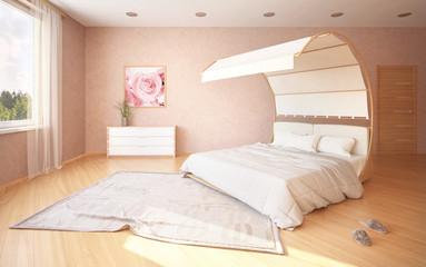 Спальня с кроватью с навесом