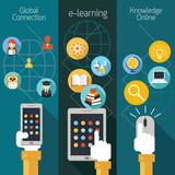 Fototapety School Online, E-Learning, E-Book, Backdrop, Education & Study