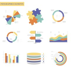 Business Infographics circle origami style Vector illustration