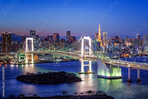 Plagát, Obraz Tokyo Rainbow Bridge und Tokyo Tower