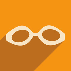Flat with shadow icon and mobile applacation goggles