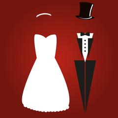 Abstraktes Hochzeitspaar