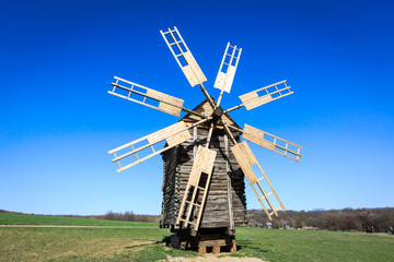 Wooden windmill