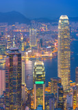 Hong Kong skyline. View from The Peak