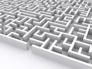 maze on white background