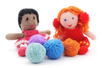 Handmade rag dolls.