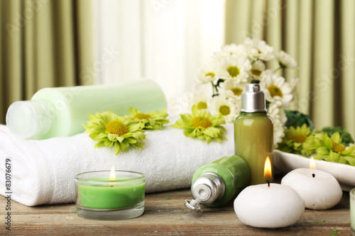 Beautiful spa composition on fabric background © Africa Studio
