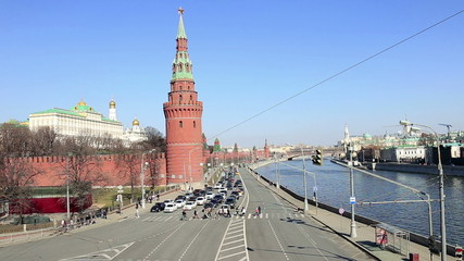 beautiful views of the Kremlin Embankment