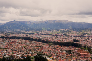 Aerial view of Cuenca, south america