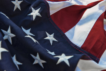 Stars and stripes - American flag closeup