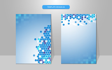 vector background technology science concept cover design