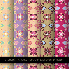 5 floral pattern background design