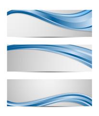 set of vector abstract wavy design banner