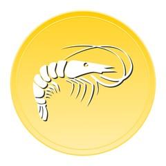 Shrimp Gold Icon