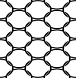 Black and white geometric seamless pattern with oval.