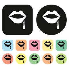 Lip. Lipstick icon