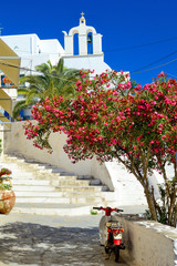 Beautiful mediterranean chora, Naxos island, Greece