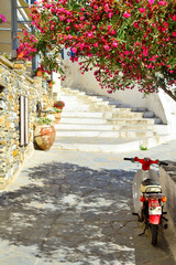 Beautiful mediterranean chora, Naxos island, Greece © aetherial