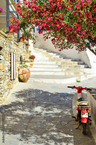 Fototapety, obrazy : Beautiful mediterranean chora, Naxos island, Greece