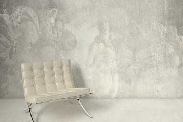 White chair and fresco